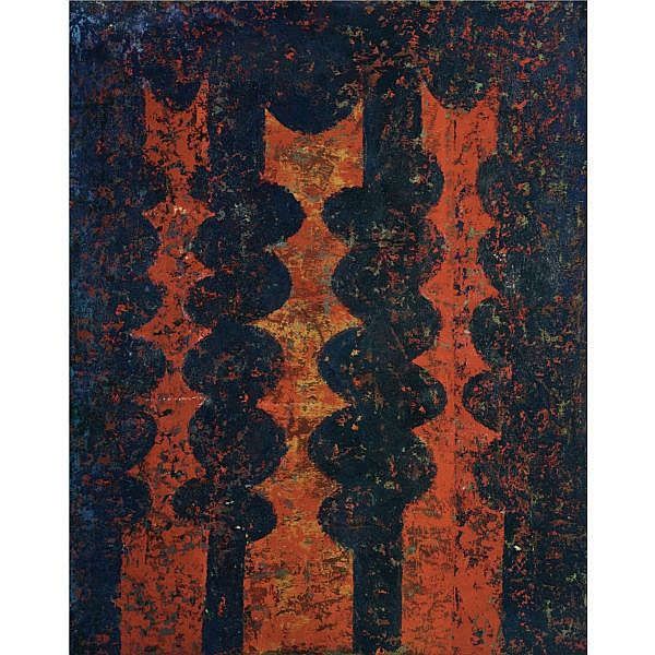 Anwar Jelal Shemza (1928-1985) , Untitled Oil on canvas board