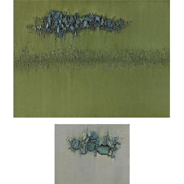 Sohan Qadri (b. 1932) , Pair of Untitled Works Oil on canvas