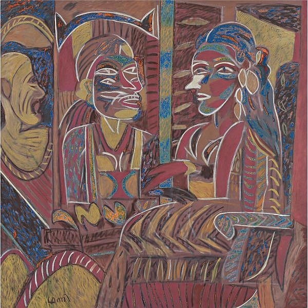 K. G. Subramanyan (b. 1924) , Padmini   Acrylic on canvas