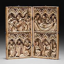 FRENCH, PROBABLY PARIS, MID-14TH CENTURY | Diptych with Scenes from the Life of Christ