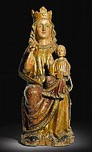 SPANISH, PROBABLY VALLADOLID, LATE 13TH/ EARLY 14TH CENTURY | Virginand Child Enthroned