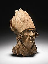 WORKSHOP OF TILMAN RIEMENSCHNEIDER (1460-1531)<BR />GERMAN, FRANCONIA, CIRCA 1510-1515 | Head of a Bishop