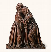 SOUTHERN GERMAN, PROBABLY SWABIA, EARLY 16TH CENTURY | Saint Anne and Saint Joachim