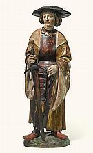 WORKSHOP OF JÖRG LEDERER (CIRCA 1470-1550)<BR />SOUTHERN GERMANOR TYROLEAN, CIRCA 1520 | KnightlySaint, or a proposed portrait ofMaximilian I, Holy Roman Emperor