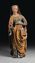 AUSTRIAN, PROBABLY TYROL, CIRCA 1500 | Saint Barbara