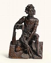 CIRCLE OFHANS BRÜGGEMANN (1480-CA. 1540)<BR />NORTHERN GERMAN, LOWER RHINE, CIRCA 1530 | Figure of a Henchman