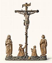 SOUTHERN GERMAN OR AUSTRIAN, CIRCA 1520 | Crucifixion Group