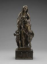 ATTRIBUTED TO NICOLO ROCCATAGLIATA (CIRCA 1560-1636)<BR />ITALIAN, VENICE, FIRST THIRD 17TH CENTURY | Virgin and Child with two Putti
