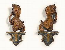 AUSTRIAN, MID-18TH CENTURY | Female Busts Allegorical for Love and Hope