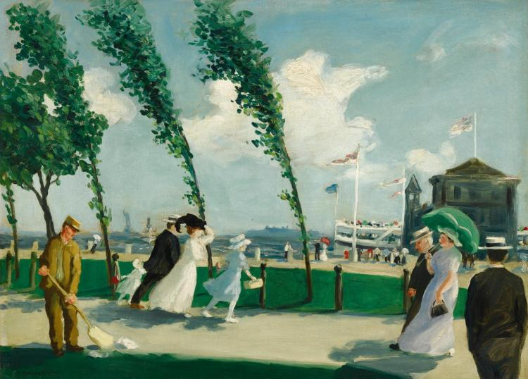 HOWARD MCLEAN | Windy Day on Battery Park