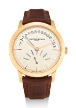VACHERON CONSTANTIN, PINK GOLD WRISTWATCH WITH RETROGRADE DAY AND DATE, PATRIMONY, REF 86020 |