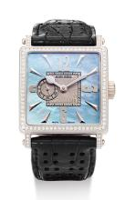 ROGER DUBUIS, LADY'S LIMITED EDITION WHITE GOLD, MOTHER-OF-PEARL AND DIAMOND-SET WRISTWATCH |