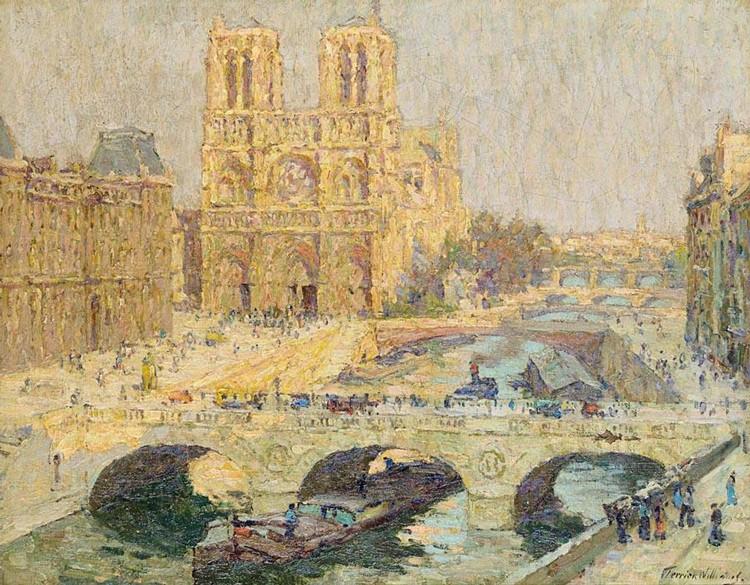 TERRICK WILLIAMS 1860-1936 NOTRE DAME, PARIS 1914