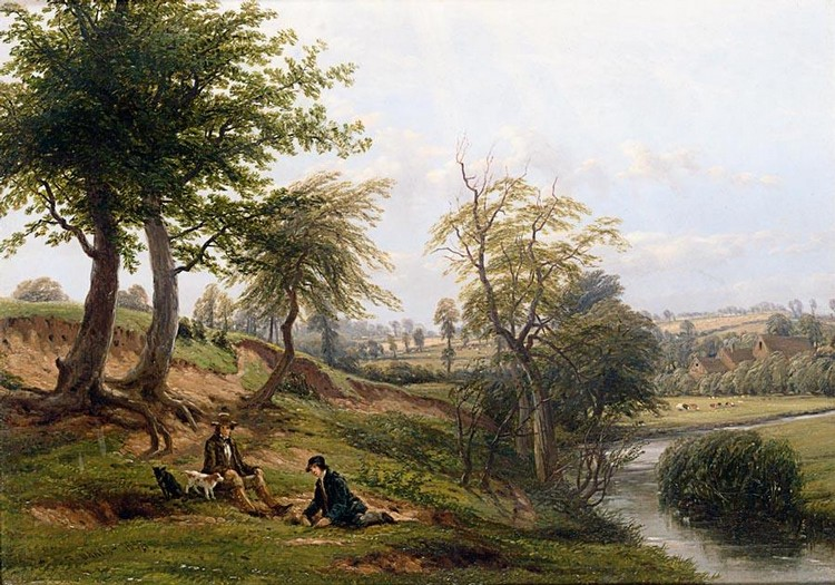 THOMAS BAKER OF LEAMINGTON 1809-1869 THE LEAM, NEAR WESTON MILL