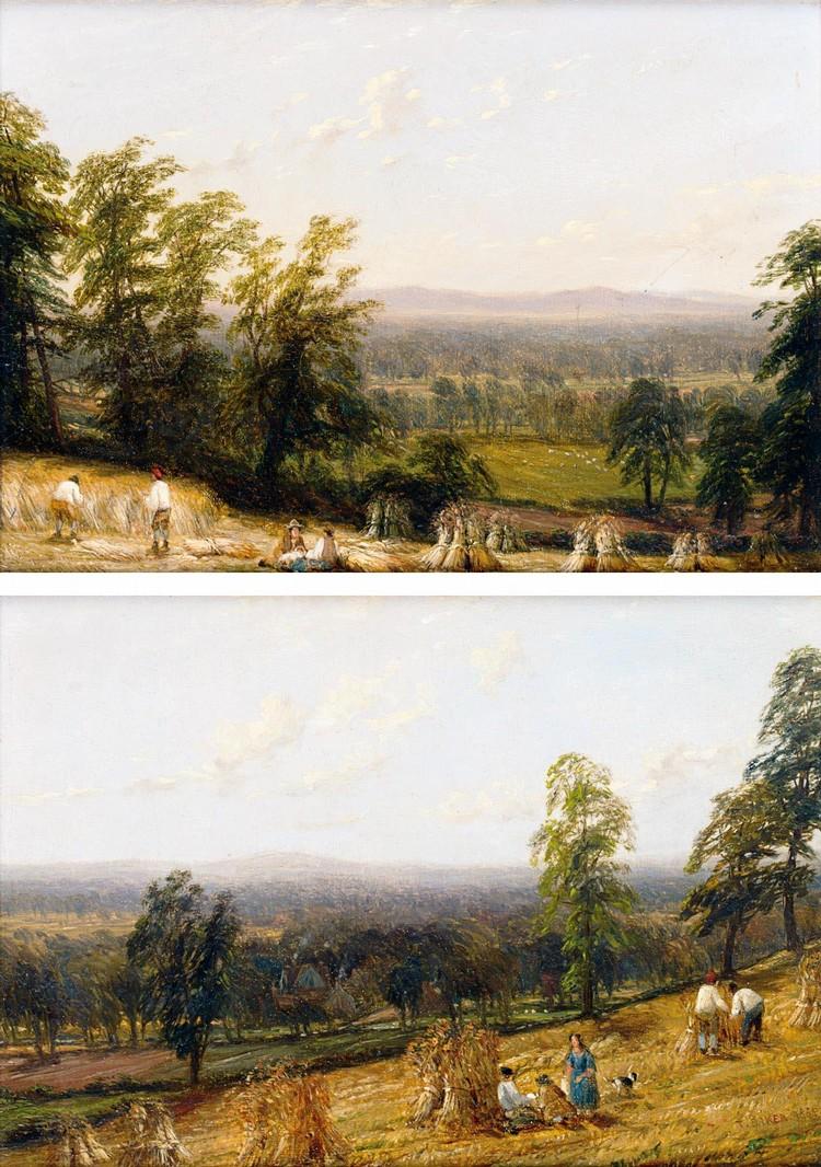 THOMAS BAKER OF LEAMINGTON 1809-1869 NEAR BARFORD, WARWICKSHIRE; HARVESTIME, ASHBORNE,