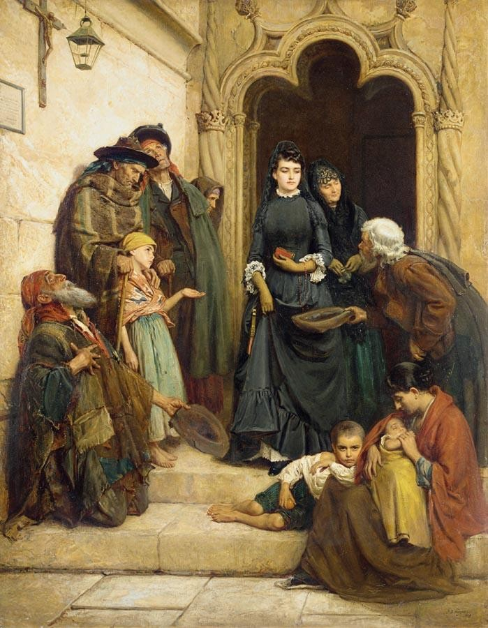 JOHN BAGNOLD BURGESS 1830-1897 THE CHURCH DOOR