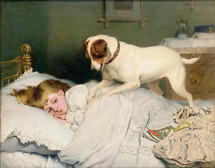 f - CHARLES BURTON BARBER 1845-1894 TIME TO WAKE UP