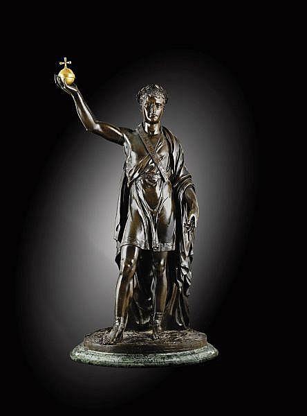 - Statue en bronze de Napoléon I vainqueur en Mars France, vers 1809/10, par Louis-Simon Boizot (1743-1809), la fonte vraisemblablement exécutée par Pierre-Philippe Thomire (1751-1843) , An Important French bronze of the Victorious Napoleon as Mars,
