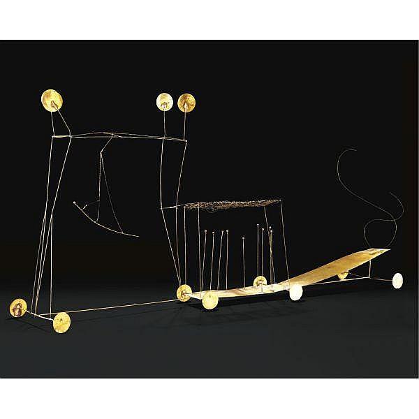 - Fausto Melotti , 1901 - 1986 Le Char de Thespis ottone