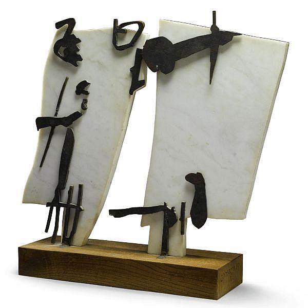 - Pietro Consagra , 1920-2005 Colloquio bronzo, marmo e legno