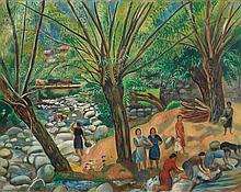 JOAQUIM SUNYER | El Segre en Martinet (On The River Segre)