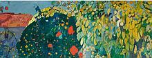 JOAQUIM MIR | Paisaje enmarcado por grandes árboles (VerdantLandscape)