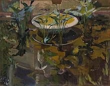 JOAQUÍN SOROLLA | Jardin de la casa Sorolla; Reflejo en 'Fuente de las Confidencias' (Garden at the artist's house; reflections in the fountain of confidences)