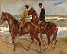 MAX LIEBERMANN | Two Riders on the Beach