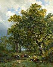 BAREND CORNELIS KOEKKOEK | A Wooded Path