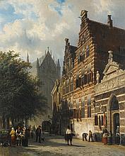 CORNELIS SPRINGER | The Kerkgracht in Leiden