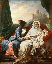 ALEXANDRE MARIE COLIN | La belle orientale et le cosaque