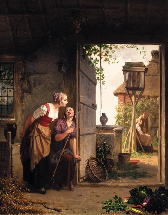 JAN DAVID COL, BELGIAN 1822-1900