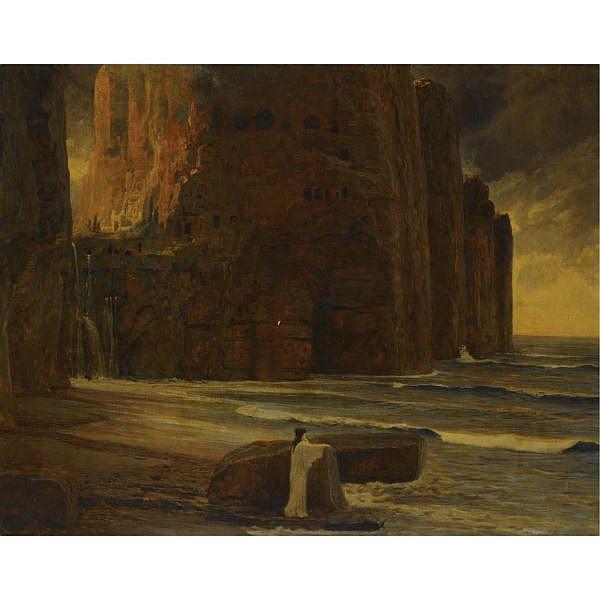Max Roeder , German 1866-1947 Iphigenie oil on canvas