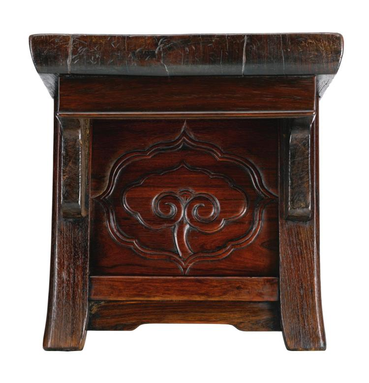 A HUANGHUALI PLANK-TOP KANG TABLE LATE MING DYNASTY |