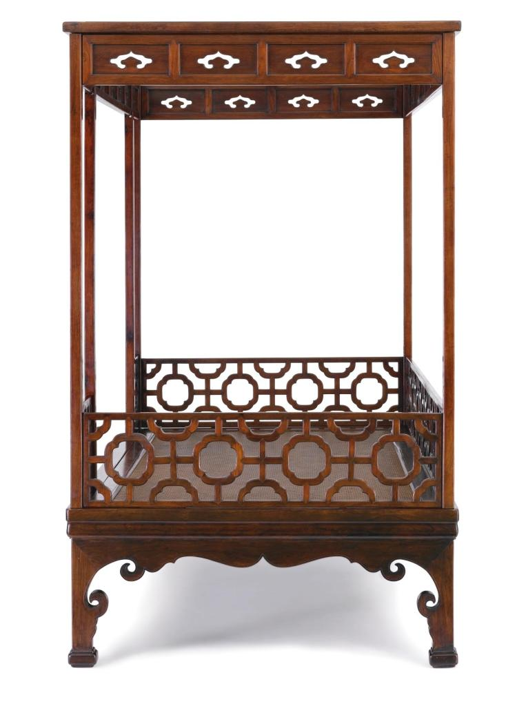 A HUANGHUALI SIX-POST CANOPY BED LATE MING DYNASTY |