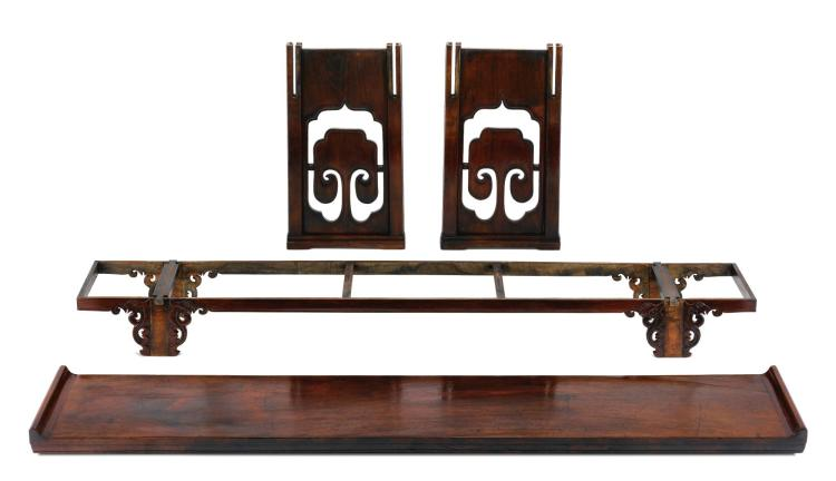 A HUANGHUALI DISMANTABLE RECESSED-LEG TABLE, QIAOTOUAN LATE MING DYNASTY |