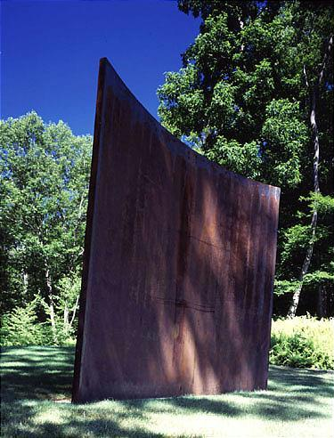 Richard Serra b. 1939 Untitled corten steel 119 1/2 by 144 by 2 1/2in. 303.5 by 365.8 by 6.4cm. Exec...
