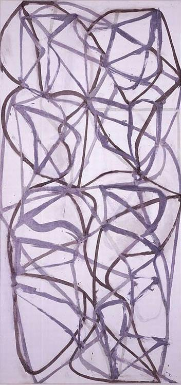 Brice Marden b. 1938 Diagrammed Couplet II signed, titled and dated 1988-89 on the reverse oil on li...