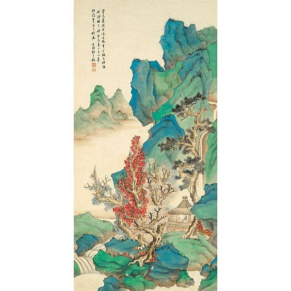Zhang Shiyuan 1898-1959 , LANDSCAPE AFTER LAN YING ink and colour on paper, hanging scroll
