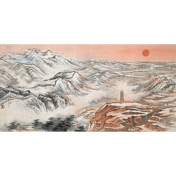 Tao Yiqing 1914-1986 , YAN'AN ink and colour on paper, framed