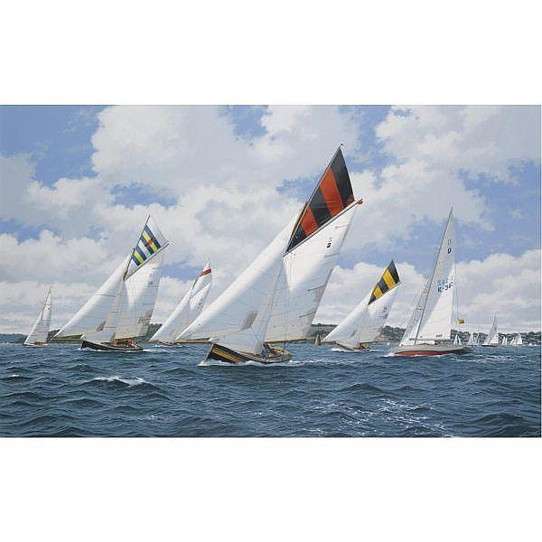 - Terry Bailey , b.1941 Classic Sailing off St. Mawes 2004 oil on canvas