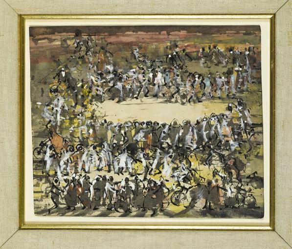 """BRION GYSIN (TAPLOW 1916- PARIS 1986) DEVIL DANCE"""", MARRAKECH, ET PLACE À MARRAKECH,"""