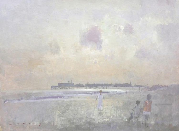FRED CUMING R.A., B.1930 HASTINGS PIER