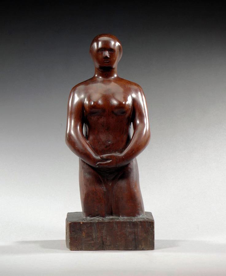 VARIOUS PROPERTIES LEON UNDERWOOD, 1890-1975 STANDING FEMALE NUDE