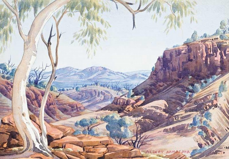 Albert namatjira artwork for sale at online auction for Artworks for sale online