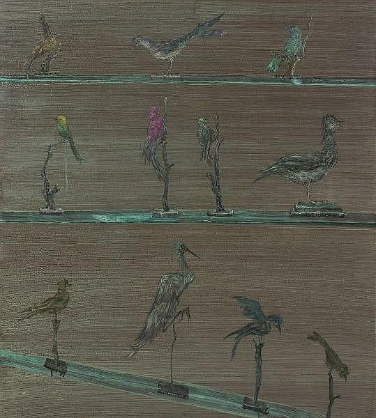 Luo Quanmu , b. 1965 Birds - Forest acrylic and oil on canvas