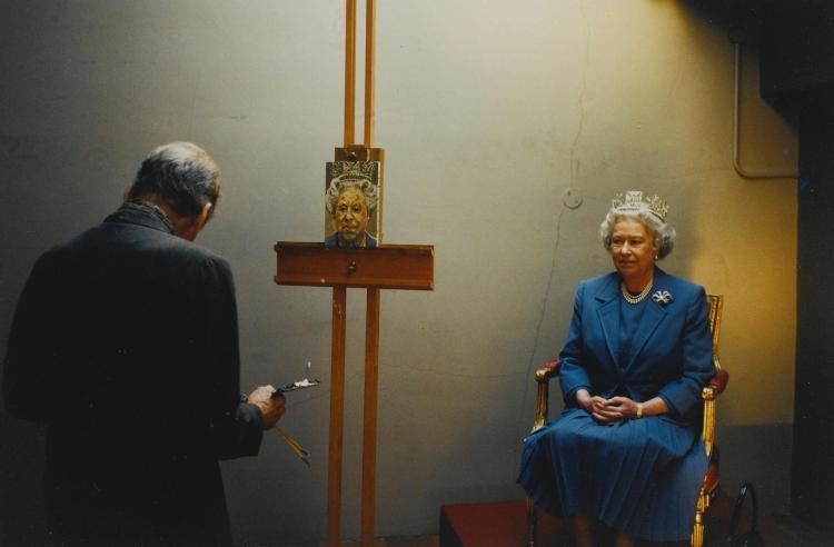 DAVID DAWSON | <em>Lucian Freud and Her Majesty the Queen</em>, 2001