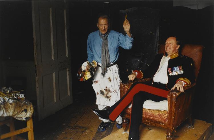 DAVID DAWSON | <em>Lucian Freud and Andrew Parker Bowles, </em>2004