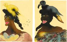 CHRIS OFILI | Untitled (two works)