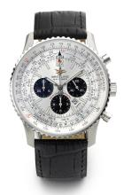 BREITLING | A STAINLESS STEEL AUTOMATIC CHRONOGRAPH WRISTWATCH WITH DATE AND REGISTERS<br />REF A41322 CASE 535934 50TH ANNIVERSARY NAVITIMER CIRCA 2002